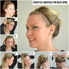Jennifer Lawrence Home by How To Get Jennifer Lawrence U0027s Pinned Back Up Do At Home