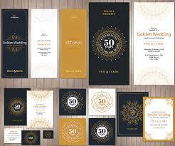 wedding invitations vector golden wedding invitations vector free vectorpicfree