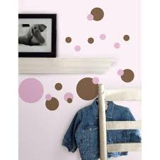 roommates bubbles peel and stick wall decal rmk1846scs the home 5 in x 11 5 in just dots pink brown peel and stick