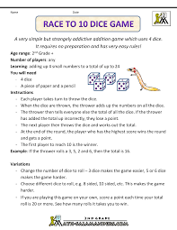 pictures on math game with dice unique design and color wedding