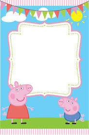 Birthday Invitations Card Peppa Pig Birthday Invitations Kawaiitheo Com