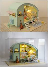 cuteroom a 016 time travel diy wooden dollhouse miniature kit doll