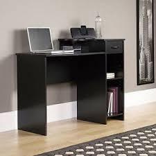 Modern Black Computer Desk Student Computer Desk Workstation Home Office Study Wood