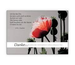 spr che zur anteilnahme danke für die liebevolle anteilnahme trauer dankeskarte