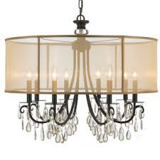 Broadway Linear Crystal Chandelier Bronze Finish Crystal Ceiling Lights For Less Overstock Com