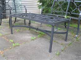 wrought iron style metal garden coffee table with glass top rt facts