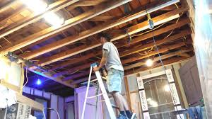 leveling a sagging ceiling youtube