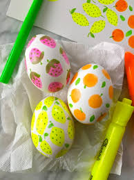 easter eggs for decorating simple highlighter pen decorated easter eggs make it