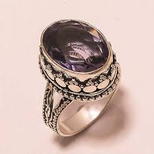 fine gemstone rings images Fine hand cut amethyst vintage gemstone jewelry 925 silver ring 6 JPG