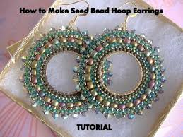 hoop beaded earrings tutorial how to make seed bead hoop earrings beaded hoop