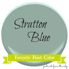 favorite paint color benjamin moore stratton blue postcards