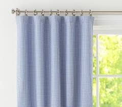 Green Checkered Curtains Gingham Blackout Panel Pottery Barn Kids