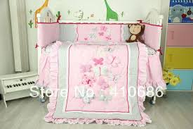 Crib Bedding Set With Bumper New Pink Castle Flower Nursery Baby Crib Bedding Set 5 Items Quilt