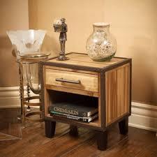 weathered wood nightstand wayfair