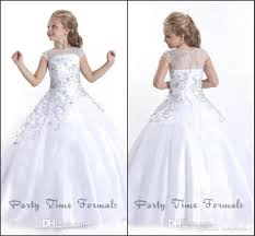 communion gowns 2016 white princess flower girl dresses for wedding sheer