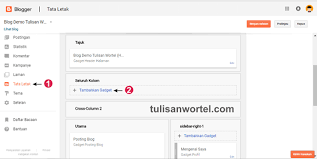 cara membuat blog tulisan lengkap cara membuat tab menu bar di blog tulisan wortel