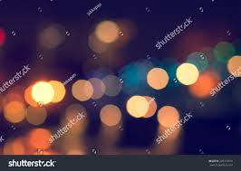 Retro Christmas Lights by Lights Blurred Bokeh Background Christmas Night Stock Photo
