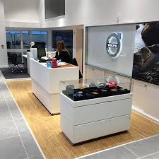 wood flooring in volvo showrooms
