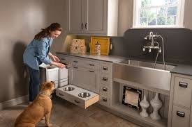 Wood Mode Kitchen Cabinets by Pet Parlor Custom Cabinets With Your Pet In Mind