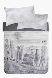 meerkat photographic printed duvet cover set shop new in bed u0026