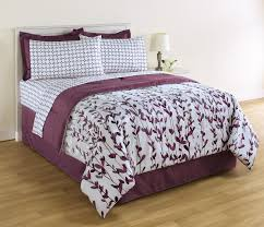 essential home 8 piece complete bed set vertical vines u0026 dots