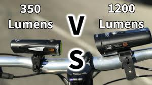 light and motion bike lights review riding with mtb lights 350 lumens vs 1200 lumens youtube