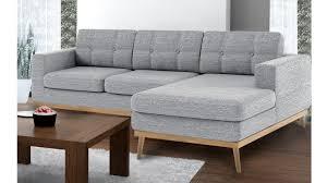 canape d angle droit canapé d angle tolbon capitoné de style scandinave en tissu
