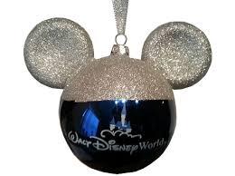 ornament mickey mouse ears glitter silver ears