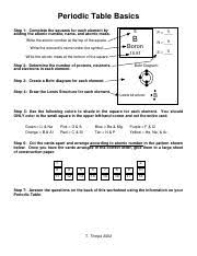 periodic table basics pdf predict the number of valence electrons for each element based on