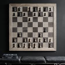 giant wall mounted vertical chess set the green head
