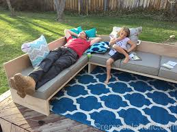 diy outdoor sectional sofa tutorial building plan