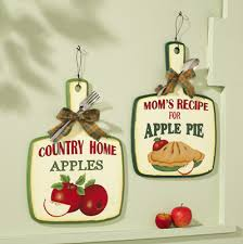 Country Kitchen Wall Decor Vintage Look Apple Pie Kitchen Wall Decor Set Too Cute