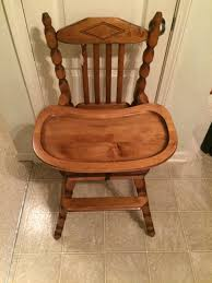 Rocking Chair For Breastfeeding Vintage Wooden High Chair Jenny Lind Antique High Chair Vintage