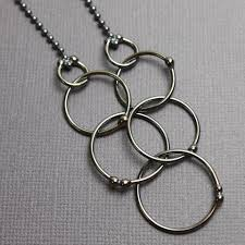 handmade chain necklace images Long sterling silver chain necklace with hoops 28 quot kathy bankston jpg
