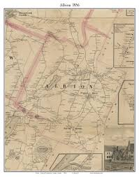 Map Of Maine Towns Albion Maine 1856 Old Town Map Custom Print Kennebec Co Old Maps