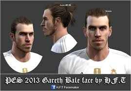 pes 2013 hairstyle pes 2013 gareth bale face by h f t pes patch