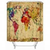 Shower Curtain World Map World Map Shower Curtain Homeware Buy Online From Fishpond Co Nz