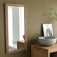 low priced wood framed mirrors wood bathroom mirrors tikamoon
