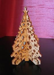 made laser cut 3d tree by laz it engraving