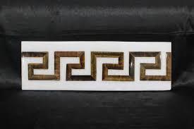 marble inlay wall tiles greek border design kitchen