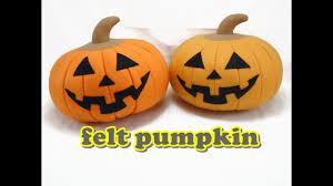 halloween pumpkin bag felt craft tutorial halloween pumpkin youtube