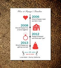 custom save the dates timeline of save the date magnets or card custom save the
