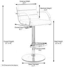 amazon com ego adjustable height swivel bar stool with