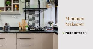 used kitchen cabinets in pune this semi modular pune kitchen is neatly neutral