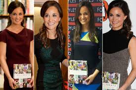 pippa middleton debuts new book in four different photos