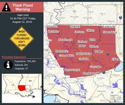 New Orleans Flood Map by Louisiana Flooding Map Update Historic Disaster Kills 3