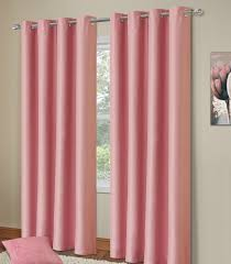 Nursery Blackout Curtains Uk Plain Baby Pink Colour Thermal Blackout Bedroom Livingroom
