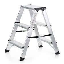 silver ikayaa folding 2 step ladder portable aluminum lovdock com