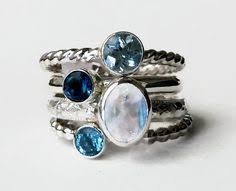 stacked birthstone rings hey i found this really awesome etsy listing at https www etsy