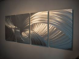 metal wall design modern living silver metal wall design decosee